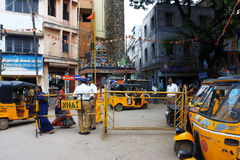 Traffic on the street in India Stock Image