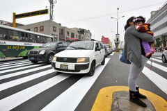 Traffic in street of Lima, Peru Stock Photography