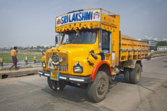 Traffic on the street in Madurai, India. Stock Photo