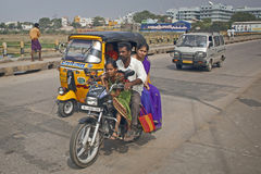 Traffic on the street in Madurai, India. Royalty Free Stock Images
