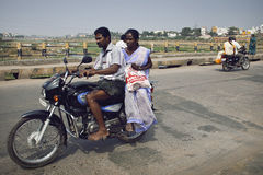 Traffic on the street in Madurai, India. Stock Photo