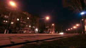 Traffic Street Road Night City stock video