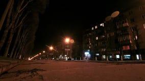 Traffic Street Road Night City stock video footage
