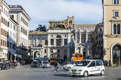 Traffic on a street in Rome, Italy Royalty Free Stock Photo