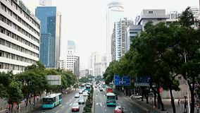 Traffic on the street in Shenzhen stock footage
