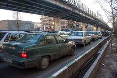 Traffic on a street Stock Image