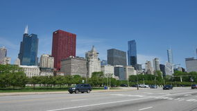 Traffic on the Streets of Downtown Chicago stock video footage