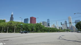 Traffic on the Streets of Downtown Chicago Time Lapse stock video footage