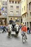 Traffic on the streets of Florence city , Italy Royalty Free Stock Photography