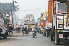 Traffic on streets of India Royalty Free Stock Images