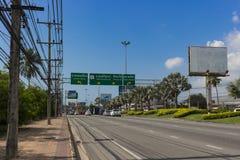 Traffic on Sukhumvit road, Thailand Stock Photos