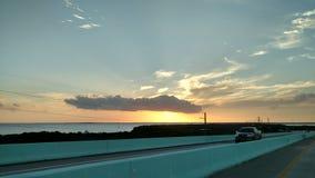 Traffic sunrise in the Keys Stock Photo