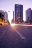 Traffic on sunset Royalty Free Stock Photos