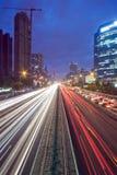 Traffic on sunset Royalty Free Stock Image