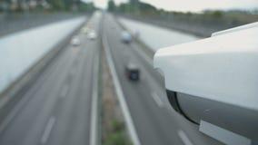 Traffic surveillance camera in closeup.