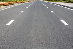 Traffic symbol on surface road Stock Photos
