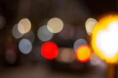 Traffic signs at night Stock Image