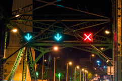 Traffic symbols on the Memorial Bridge Royalty Free Stock Photo