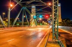 Traffic symbols on the Memorial Bridge royalty free stock images