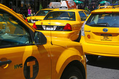 Traffic of taxis in New York City Stock Photo