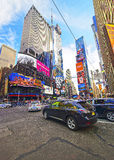 Traffic on 7th Avenue and Broadway in Times Square Royalty Free Stock Image