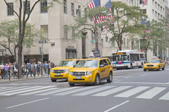 Traffic at 5th Avenue (New York City) Royalty Free Stock Image