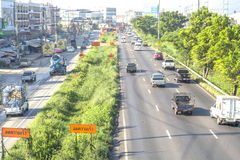 Traffic in Thailand stock photography