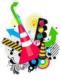 Traffic theme background Royalty Free Stock Photography