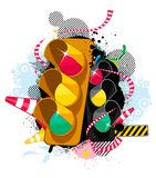 Traffic theme background Royalty Free Stock Photo