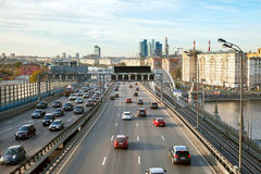 Traffic on Third Ring Road Royalty Free Stock Image