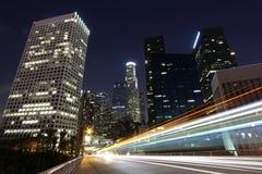 Traffic Through Los Angeles Stock Photo
