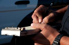 Traffic ticket Stock Photography