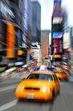 Traffic on Time Square Stock Images