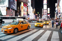 Traffic in Time Square, New York. NEW YORK CITY - OCTOBER  15: The Times Square at night on October  15, 2012 in New York, Times Square is major commercial Stock Image