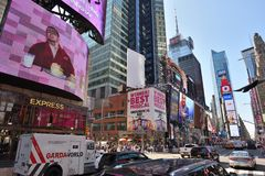Times Square in Manhattan Stock Photo