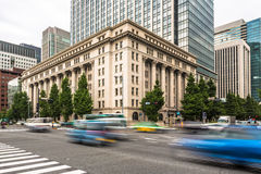 Traffic in Tokyo business district, Japan. Traffic capture with motion blur in Tokyo business district, Japan Royalty Free Stock Photography
