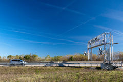 Traffic toll booth Royalty Free Stock Photo