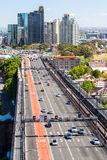 Traffic Towards Cahill Expressway Stock Photography