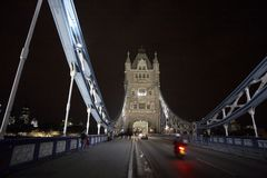 Traffic on Tower Bridge Royalty Free Stock Photography