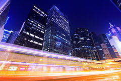 Traffic trafic with Hong Kong Stock Photo