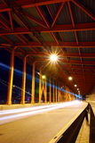Traffic trail in Tunnel Royalty Free Stock Photo