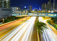 Traffic in urban at night Royalty Free Stock Photo
