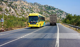 Traffic of transport vehicle on highway 1A stock images