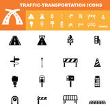 Traffic-transportation icon set  Stock Images