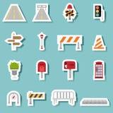 Traffic-transportation icon set vector Stock Photos