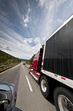 Traffic With Trucks On Interstate Stock Photography