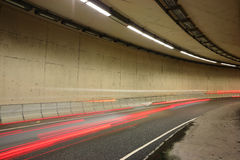 Traffic in tunnel Royalty Free Stock Images
