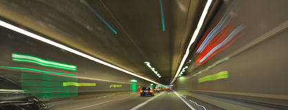 traffic in the tunnel Royalty Free Stock Photos