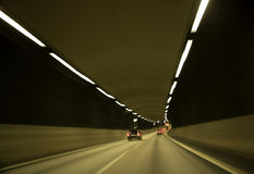 Traffic in tunnel Royalty Free Stock Photo