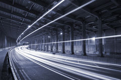 Traffic in Tunnel Royalty Free Stock Image